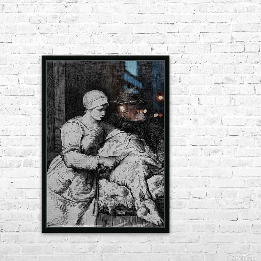 Sheep shearer HD Sublimation Metal print with Decorating Float Frame (BOX)