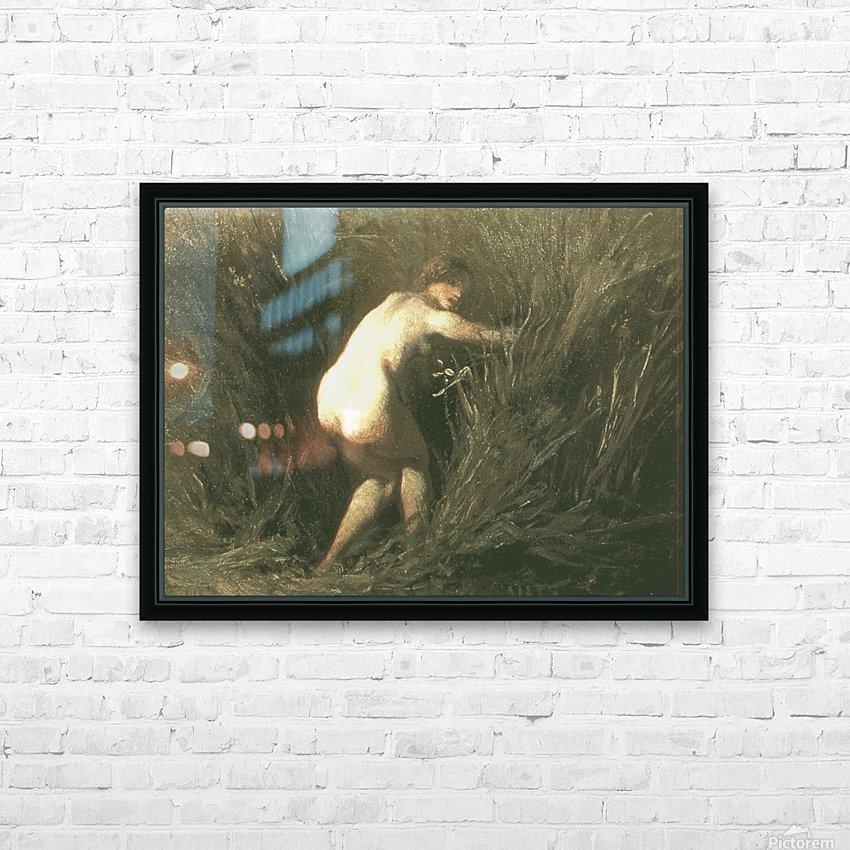 Nymphe dans les roseaux HD Sublimation Metal print with Decorating Float Frame (BOX)
