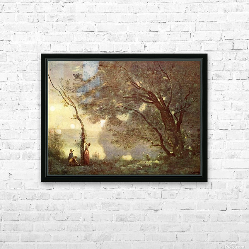 Camille Corot HD Sublimation Metal print with Decorating Float Frame (BOX)