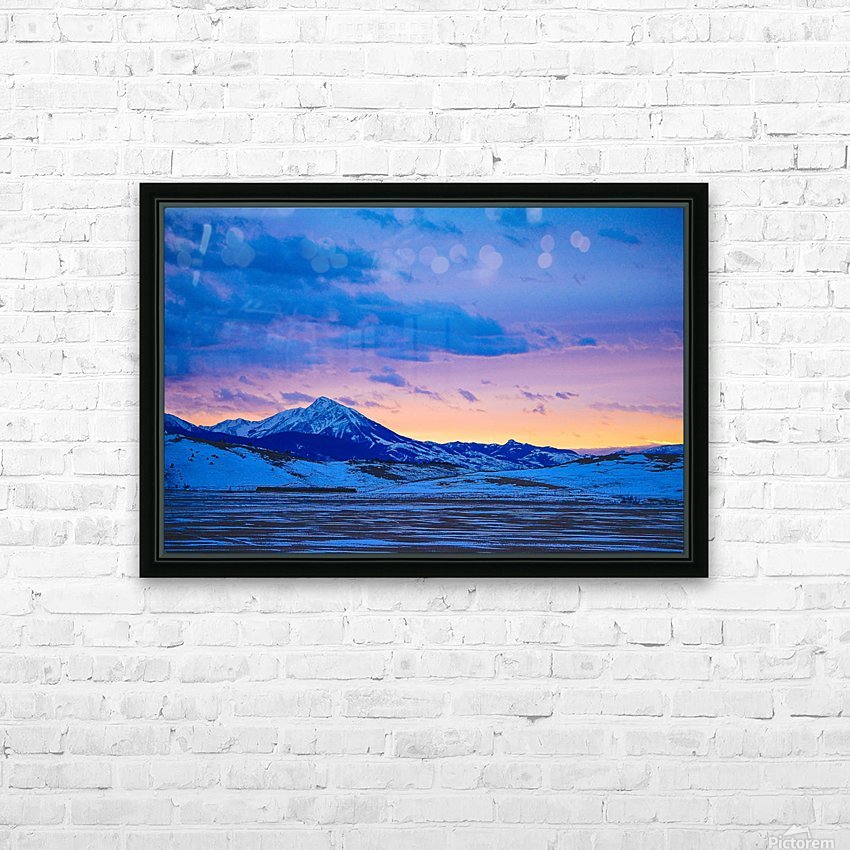 Emigrant Peak HD Sublimation Metal print with Decorating Float Frame (BOX)