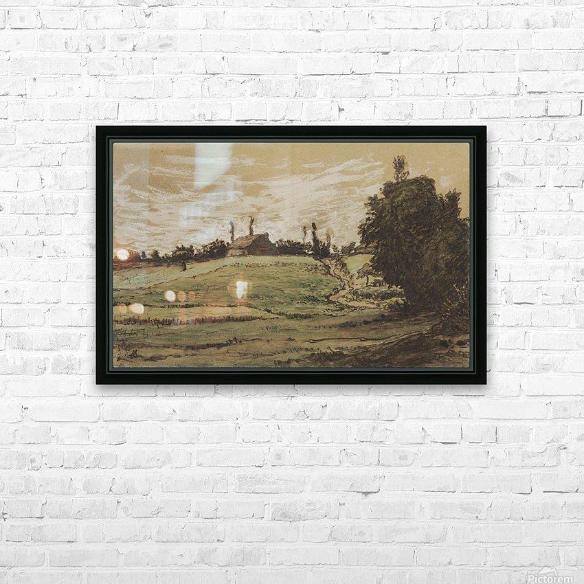 Ferme sur les hauteurs de Vichy HD Sublimation Metal print with Decorating Float Frame (BOX)