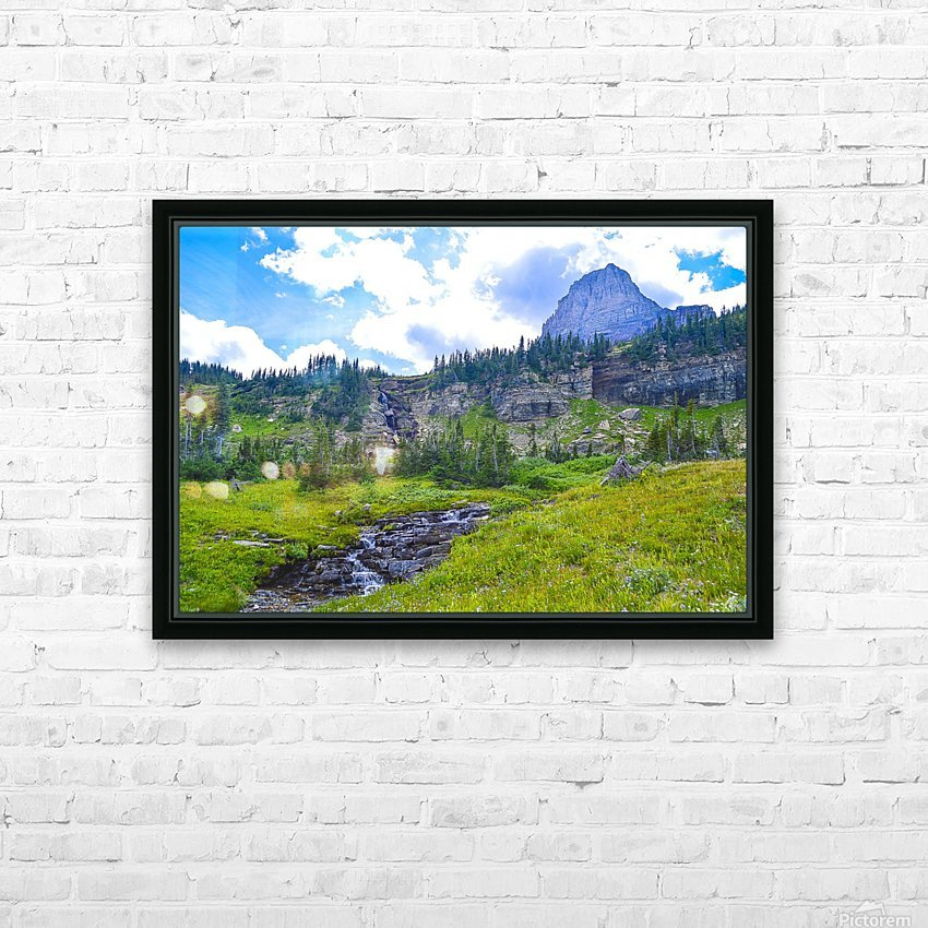 Logan Creek HD Sublimation Metal print with Decorating Float Frame (BOX)
