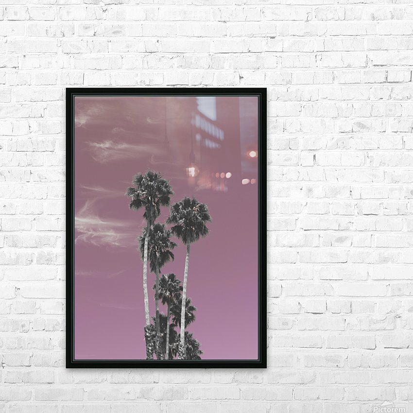 Palm trees in summer HD Sublimation Metal print with Decorating Float Frame (BOX)