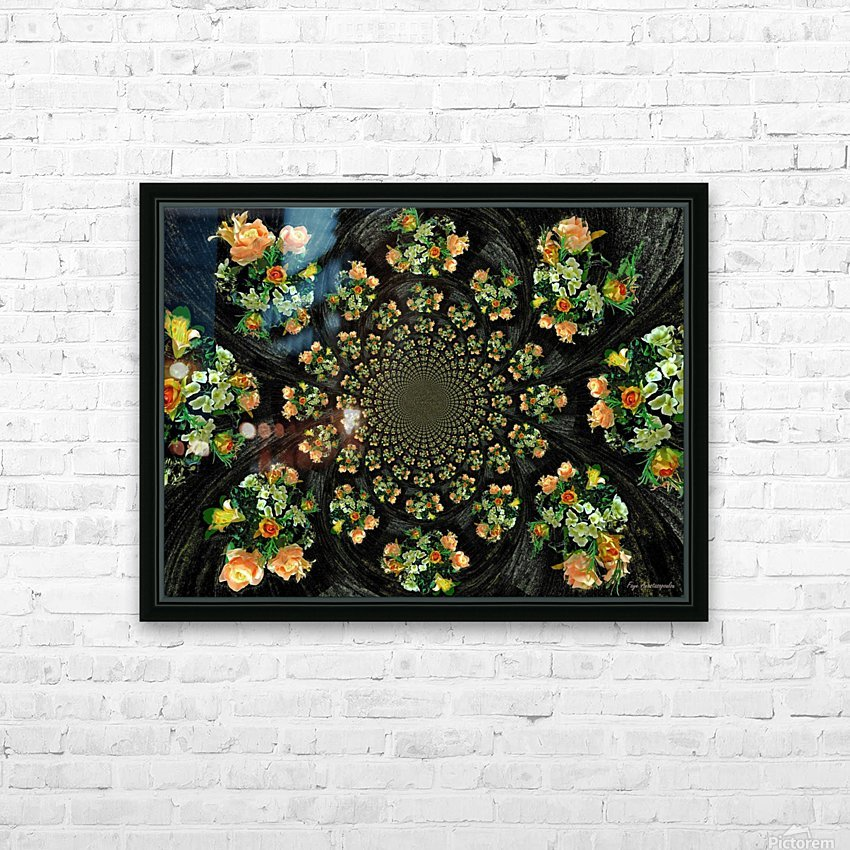 Floral Creation HD Sublimation Metal print with Decorating Float Frame (BOX)