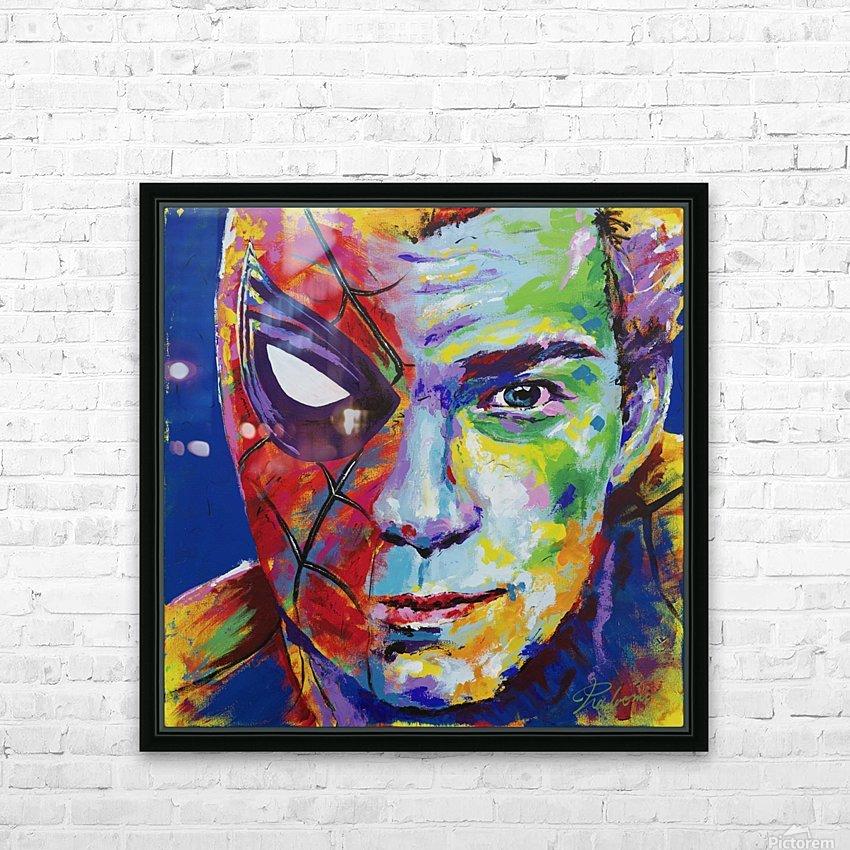 Spiderman_Portrait Art - Tadaomi - HD Sublimation Metal print with Decorating Float Frame (BOX)