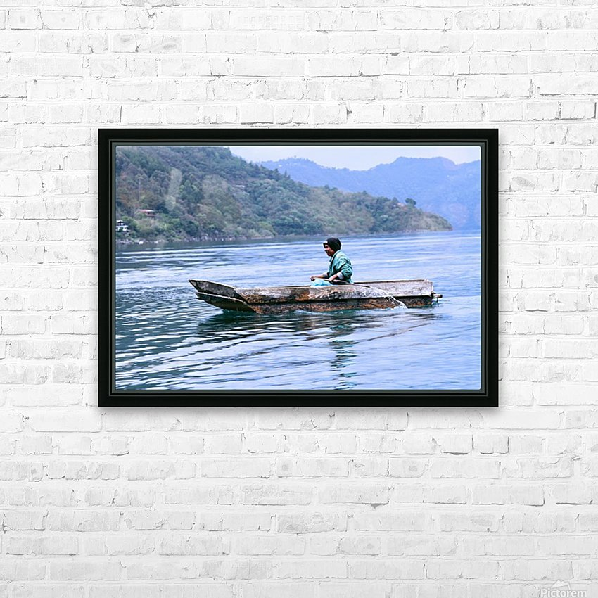 En Lago de Atitlan, Guatemala HD Sublimation Metal print with Decorating Float Frame (BOX)