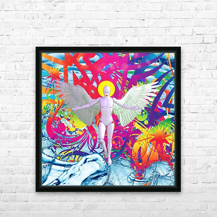 Angelic Robot HD Sublimation Metal print with Decorating Float Frame (BOX)