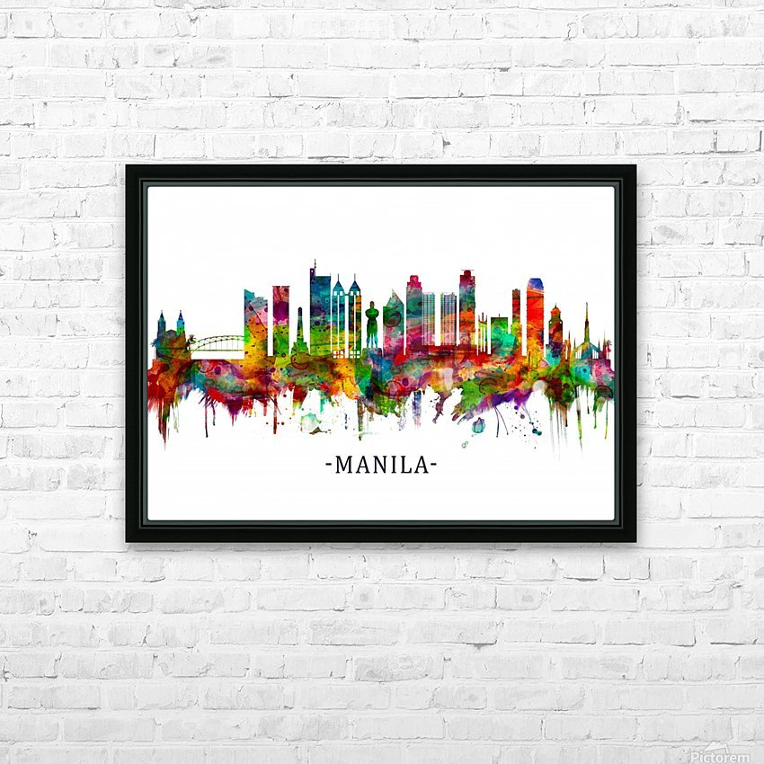 Manila Philippines Skyline HD Sublimation Metal print with Decorating Float Frame (BOX)