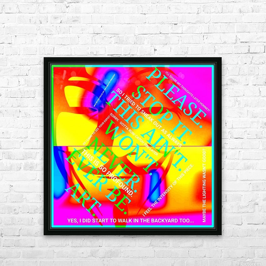 Collagène  HD Sublimation Metal print with Decorating Float Frame (BOX)