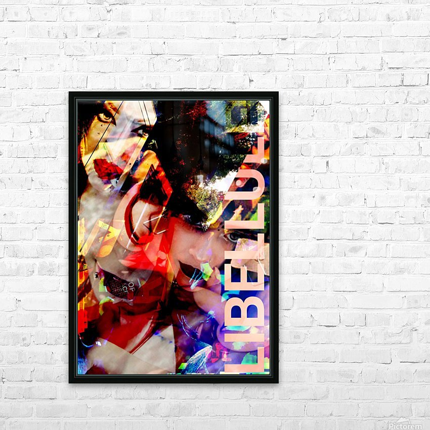 LIBELLULES  HD Sublimation Metal print with Decorating Float Frame (BOX)