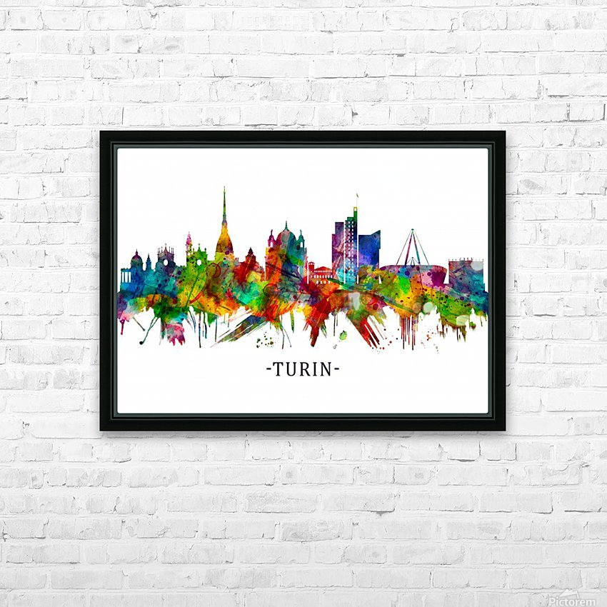 Turin Italy Skyline HD Sublimation Metal print with Decorating Float Frame (BOX)