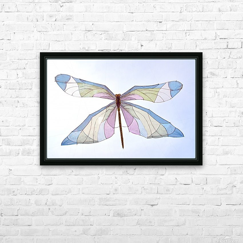Dragonfly HD Sublimation Metal print with Decorating Float Frame (BOX)
