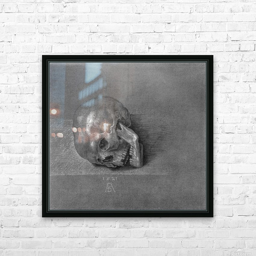 Skull HD Sublimation Metal print with Decorating Float Frame (BOX)