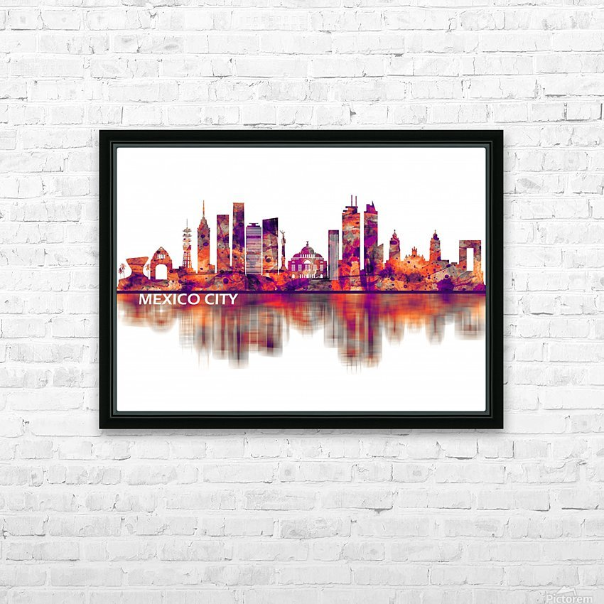 Mexico City Mexico Skyline HD Sublimation Metal print with Decorating Float Frame (BOX)