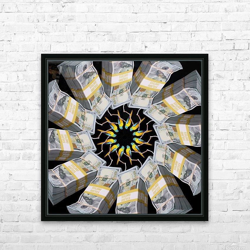 Some more PARROT MONEY for these clowns - HD sublimation métal imprimé avec décoration flotteur cadre (boîte)