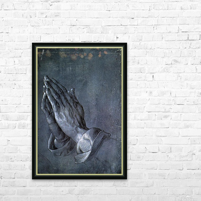 Hands of an Apostle HD Sublimation Metal print with Decorating Float Frame (BOX)