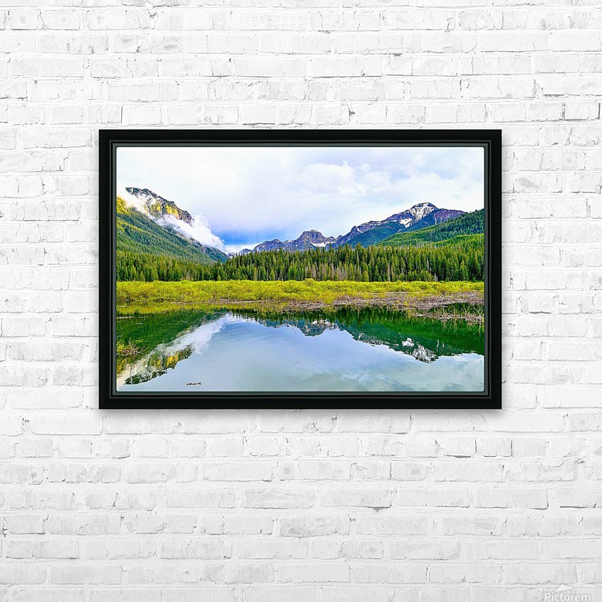 Hyalite HD Sublimation Metal print with Decorating Float Frame (BOX)