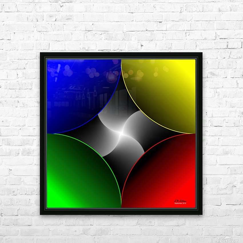 1-Colors Idea 2 HD Sublimation Metal print with Decorating Float Frame (BOX)