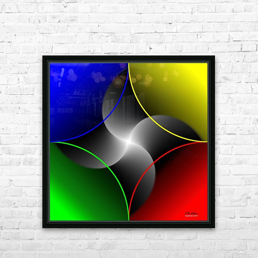 1-Colors Idea 3 HD Sublimation Metal print with Decorating Float Frame (BOX)
