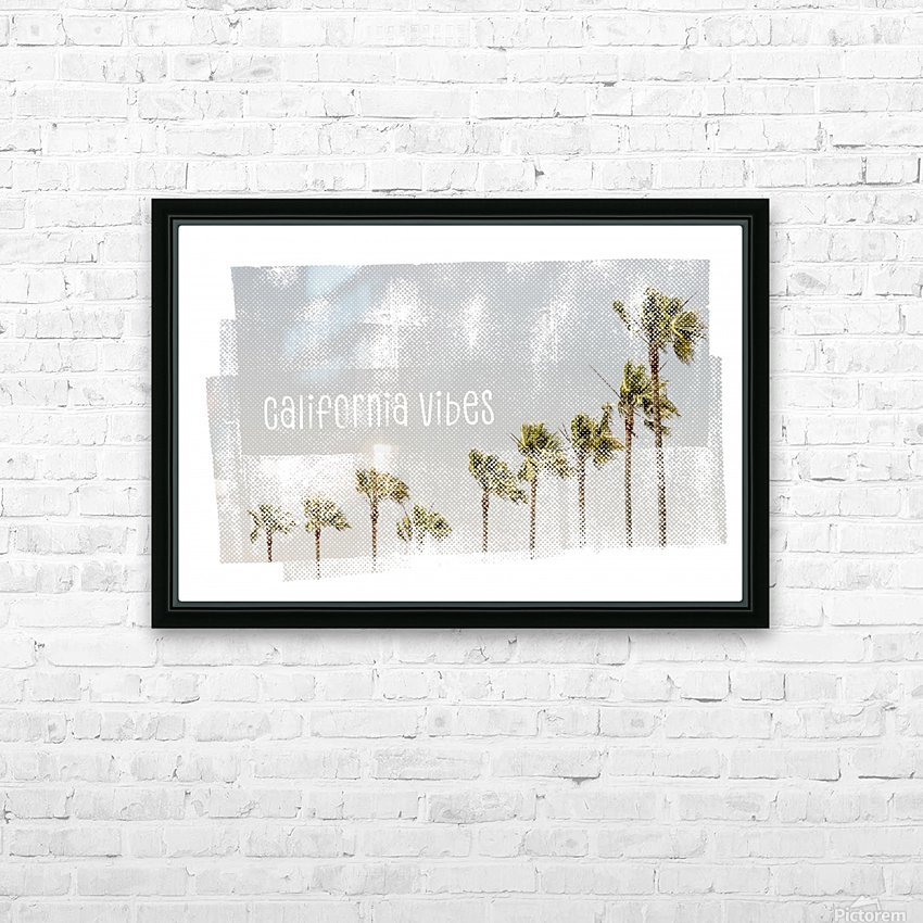 California Vibes   Vintage HD Sublimation Metal print with Decorating Float Frame (BOX)