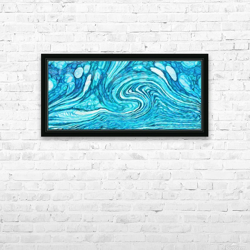 Wave DAY HD Sublimation Metal print with Decorating Float Frame (BOX)