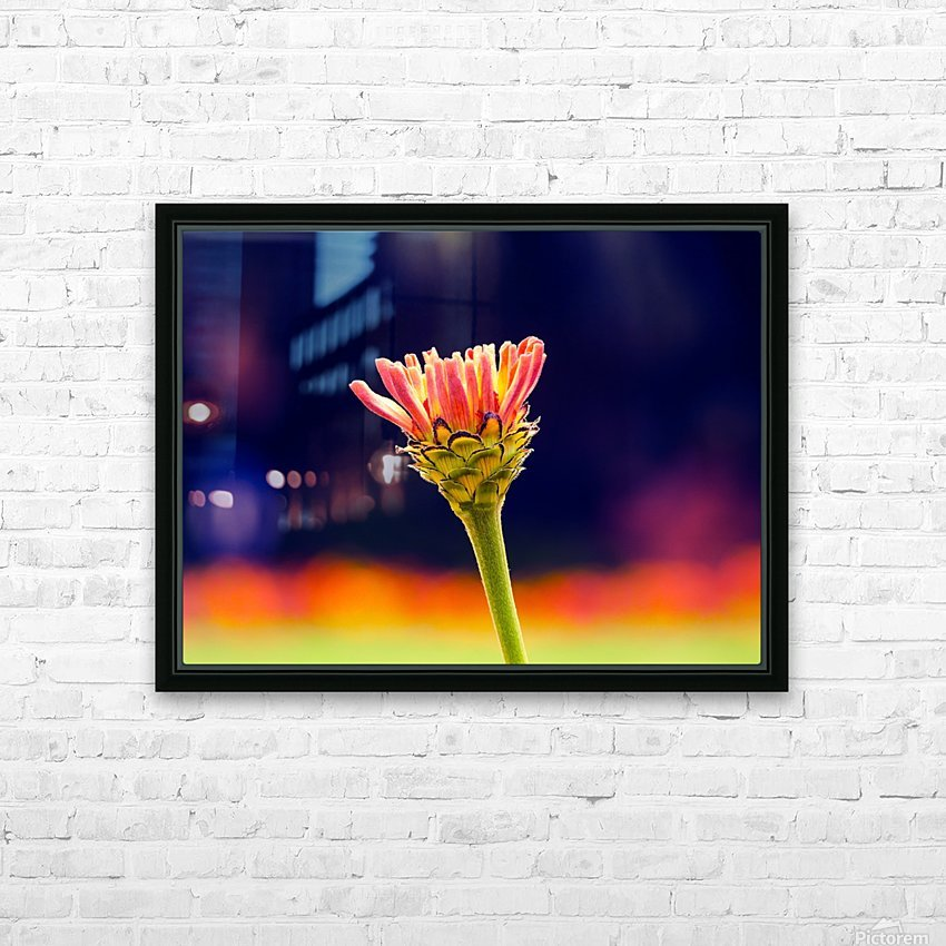 Flower buds HD Sublimation Metal print with Decorating Float Frame (BOX)