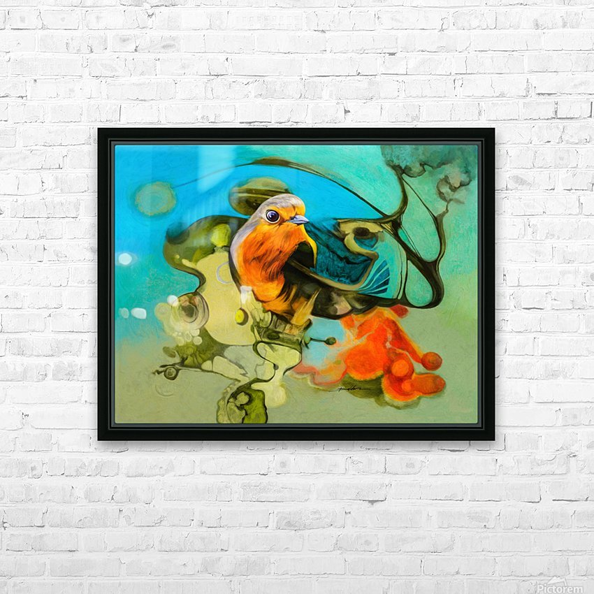 Bird of the nest HD Sublimation Metal print with Decorating Float Frame (BOX)