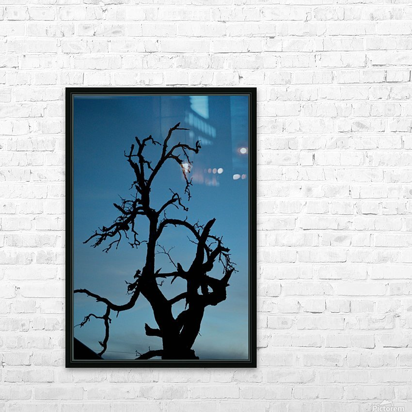 Haunted Tree HD Sublimation Metal print with Decorating Float Frame (BOX)