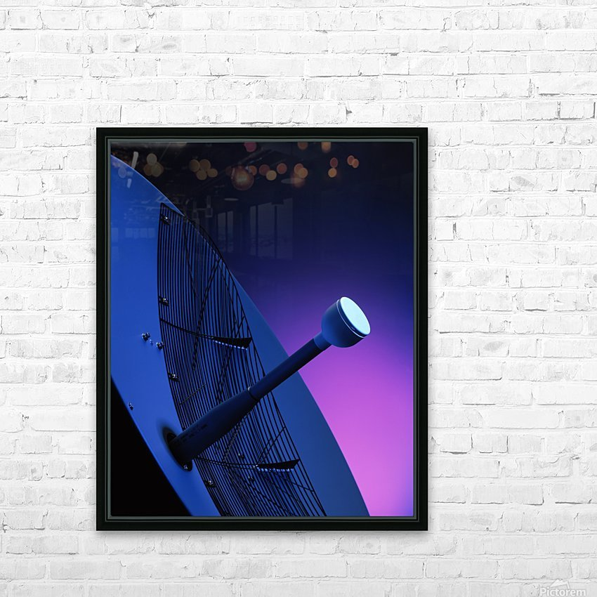 Blue Antenna HD Sublimation Metal print with Decorating Float Frame (BOX)