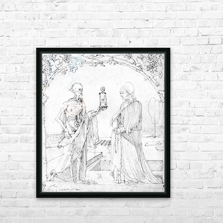 Death and wife HD Sublimation Metal print with Decorating Float Frame (BOX)