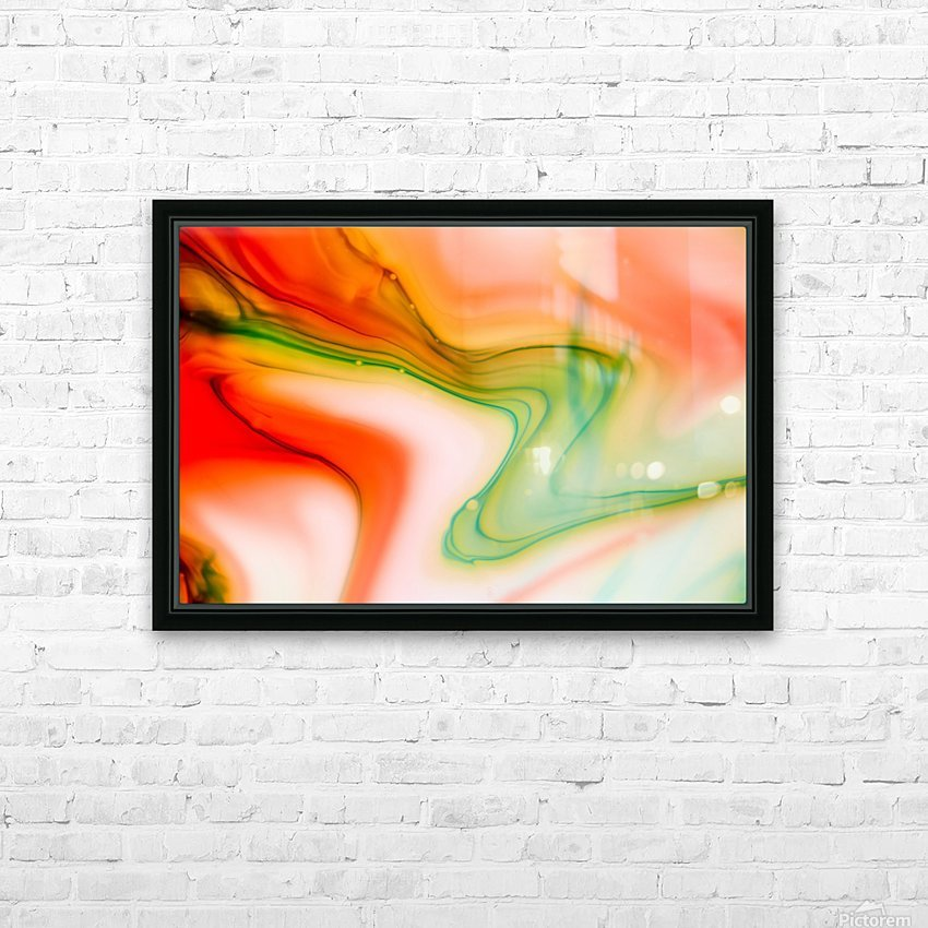 The colorful background of freeform floating watercolor HD Sublimation Metal print with Decorating Float Frame (BOX)