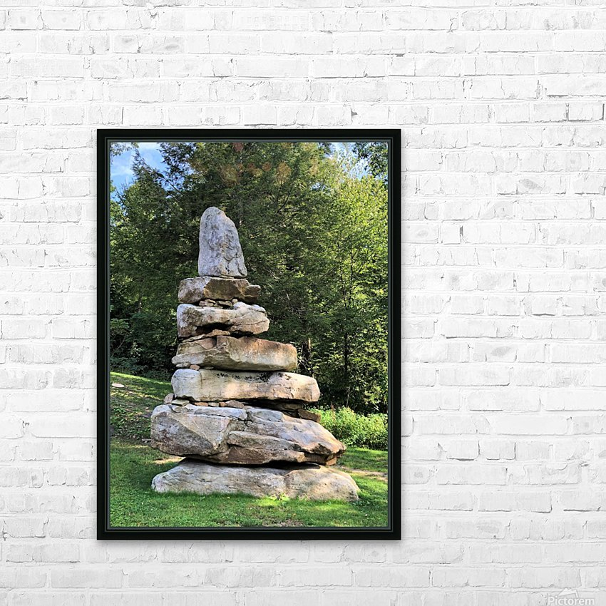 Stacked Stones HD Sublimation Metal print with Decorating Float Frame (BOX)