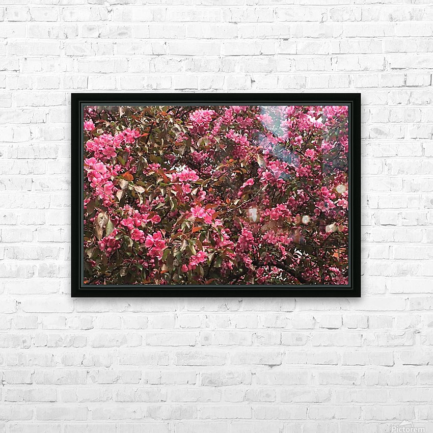 Flowering Tree HD Sublimation Metal print with Decorating Float Frame (BOX)