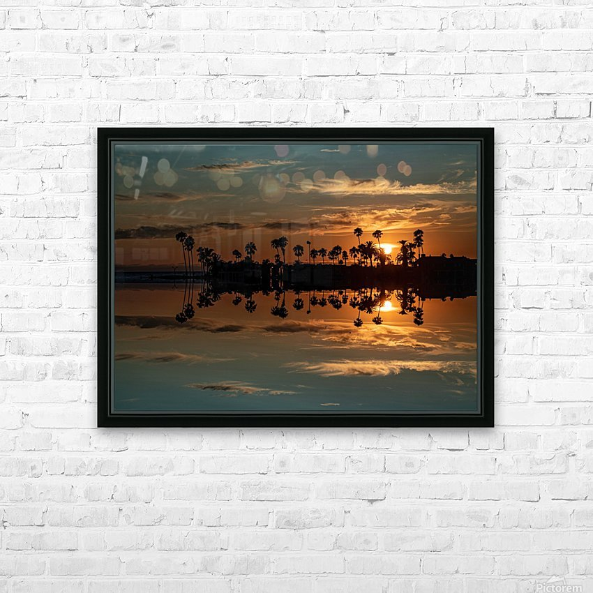 Sunset over Corona Del MAr California HD Sublimation Metal print with Decorating Float Frame (BOX)