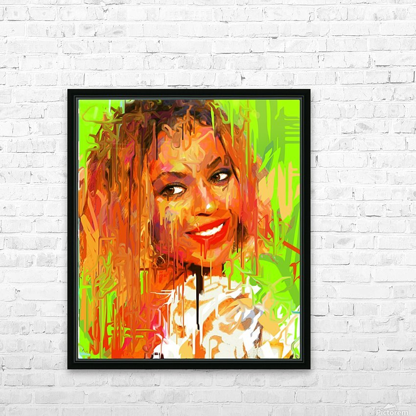 beyonce HD Sublimation Metal print with Decorating Float Frame (BOX)