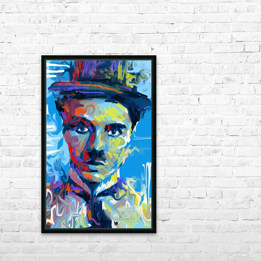 CharlieChaplin4 HD Sublimation Metal print with Decorating Float Frame (BOX)