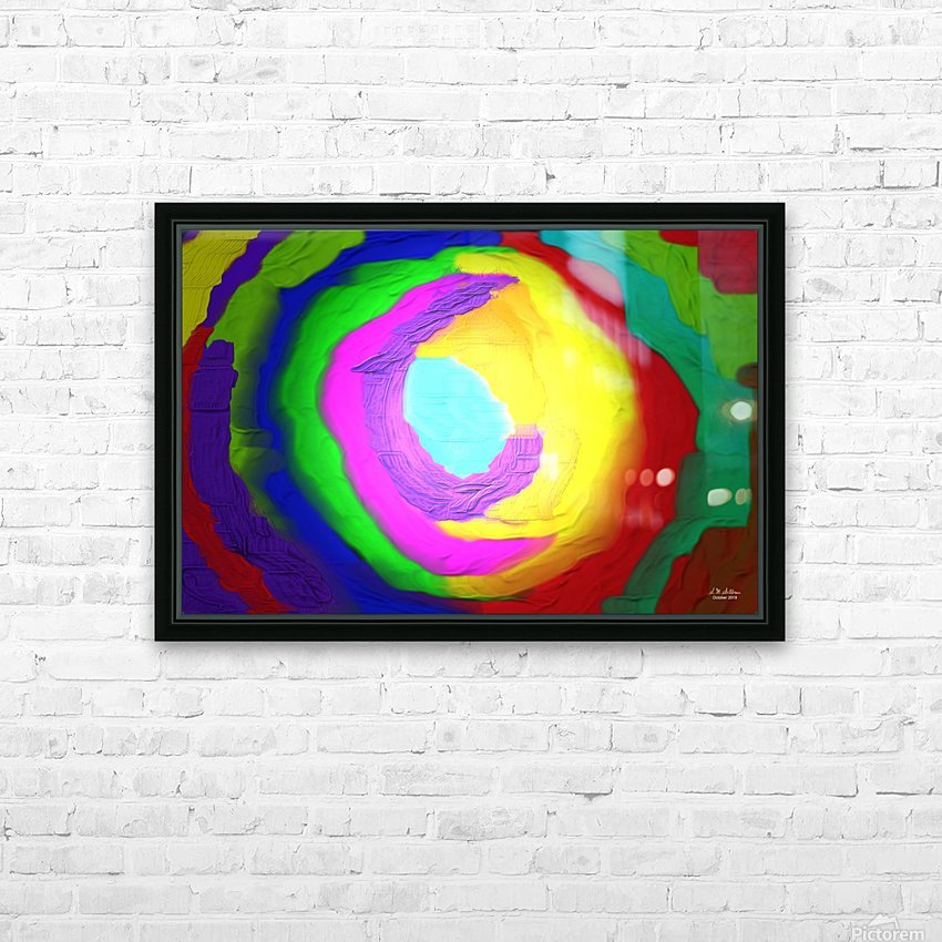 1-Beautiful Color Chaos 1 HD Sublimation Metal print with Decorating Float Frame (BOX)