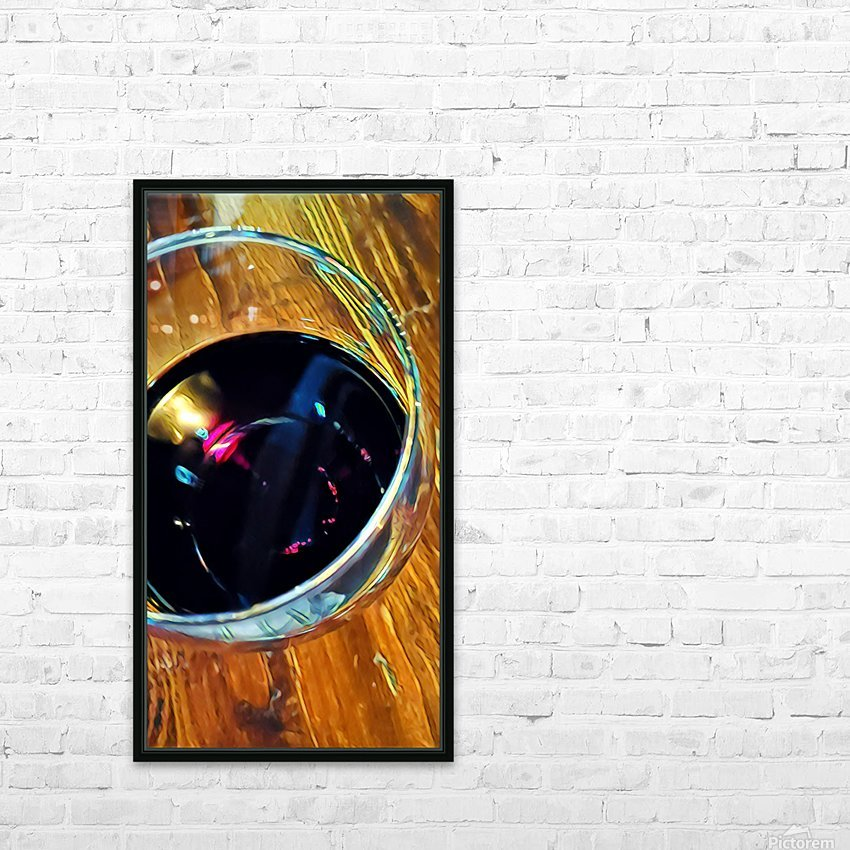 Wine Art 4 HD Sublimation Metal print with Decorating Float Frame (BOX)