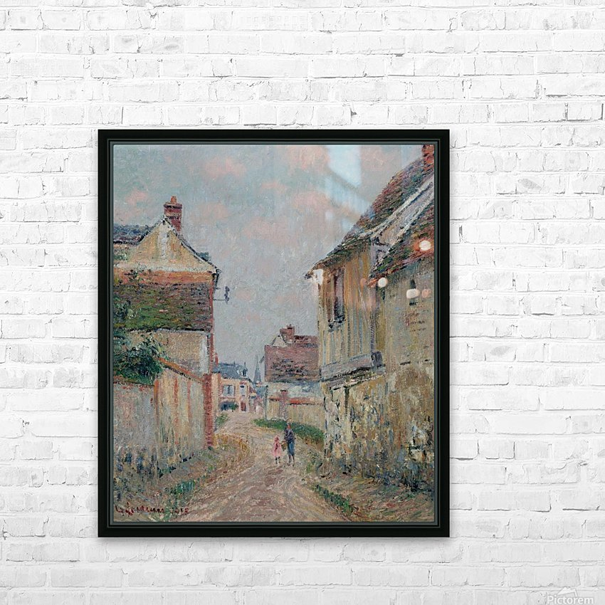 Mother and Child on the Street at Pontoise HD Sublimation Metal print with Decorating Float Frame (BOX)