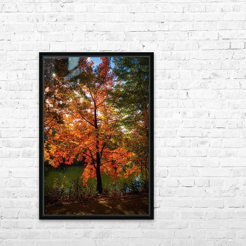 A fall colors tree HD sublimation métal imprimé avec décoration flotteur cadre (boîte)