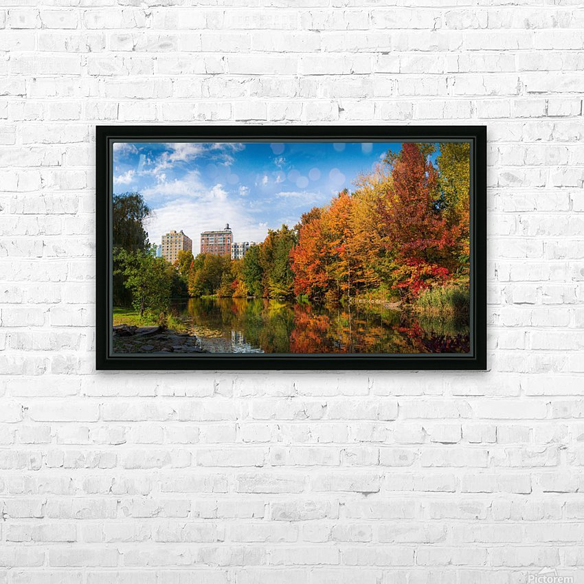 Fall colors in NY HD Sublimation Metal print with Decorating Float Frame (BOX)