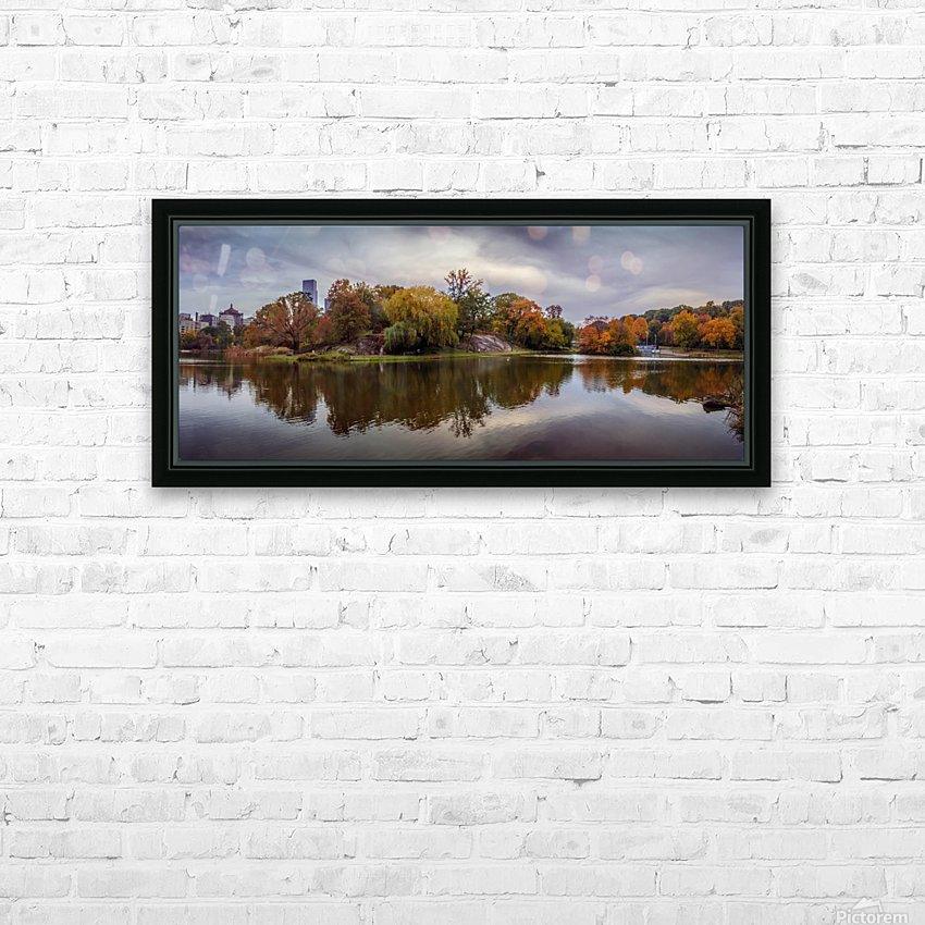 Central park lake panorama HD Sublimation Metal print with Decorating Float Frame (BOX)
