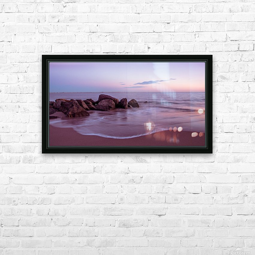 Coney Island sunset HD Sublimation Metal print with Decorating Float Frame (BOX)