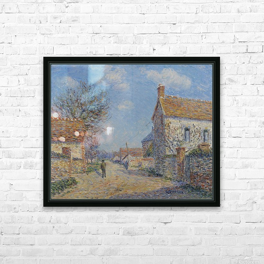 The Street of Saint-Cyr, the Sun HD Sublimation Metal print with Decorating Float Frame (BOX)