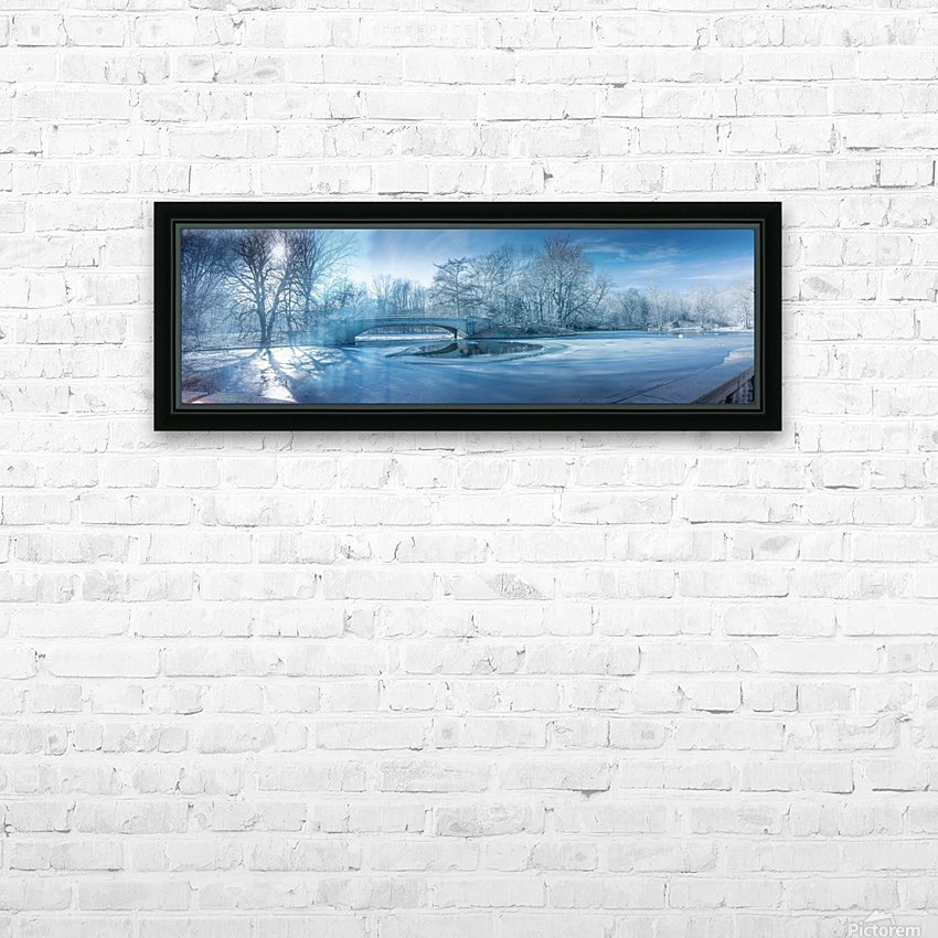 A winter day in the Prospect Park HD Sublimation Metal print with Decorating Float Frame (BOX)