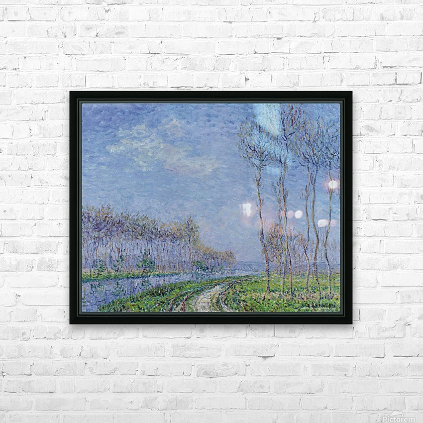 Trees on the Bank of the River HD Sublimation Metal print with Decorating Float Frame (BOX)