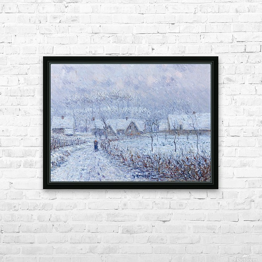 Wind with Snow, 24 March 1899, Saint-Cyr-du-Vaudreuil HD Sublimation Metal print with Decorating Float Frame (BOX)