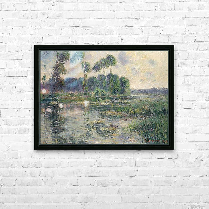 The Banks of the Eure, Saint-Cyr-du-Vaudreuil HD Sublimation Metal print with Decorating Float Frame (BOX)
