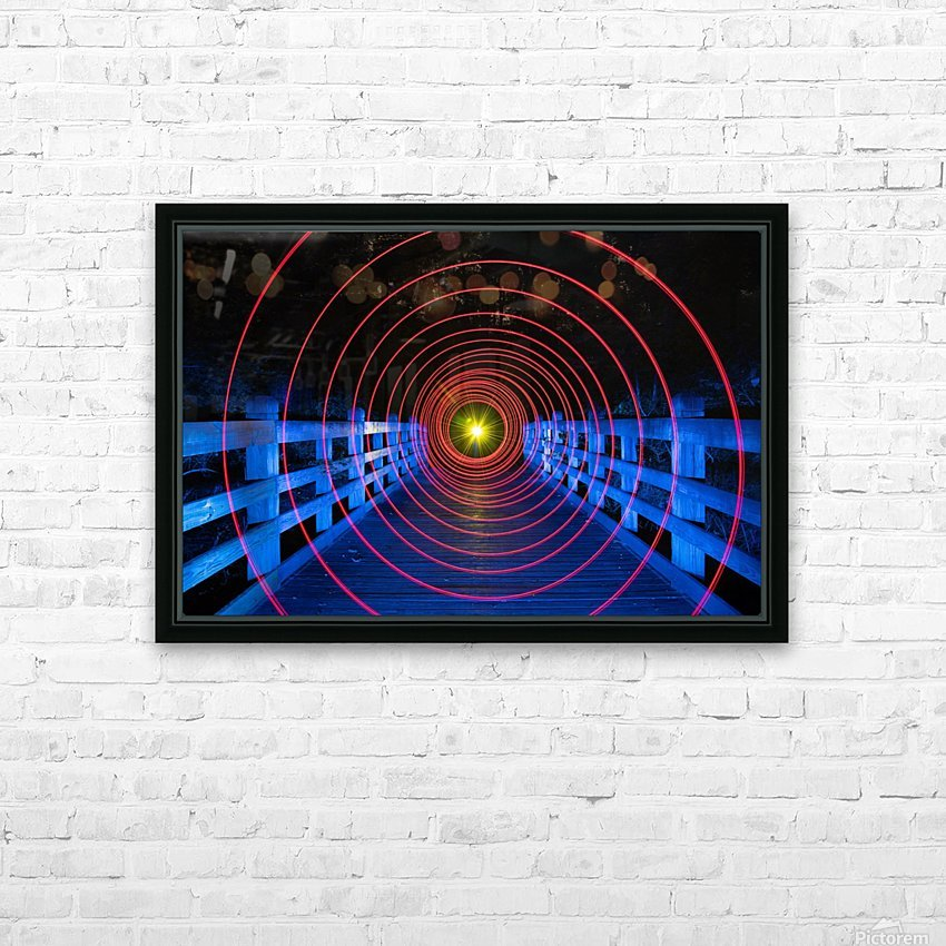 Space-Time Anomaly HD Sublimation Metal print with Decorating Float Frame (BOX)