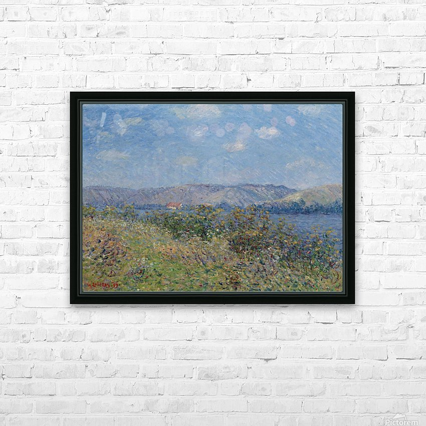 The Banks of the Seine, Tournedos-sur-Seine HD Sublimation Metal print with Decorating Float Frame (BOX)